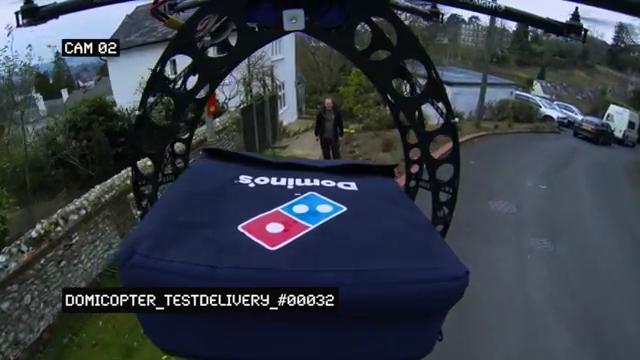 DomiCopter, il drone consegna pizze